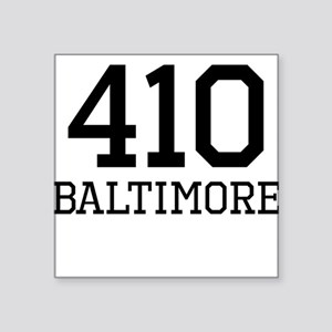 Baltimore Area Code 410 Sticker