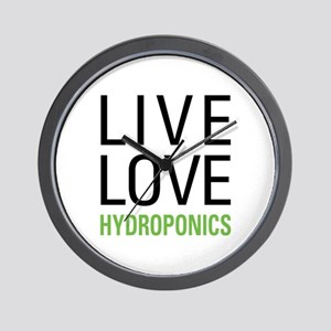 Live Love Hydroponics Wall Clock