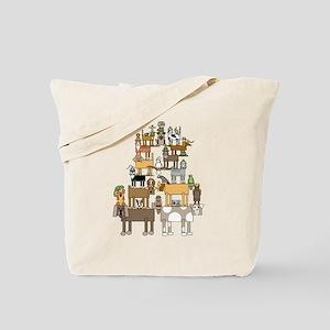 Acrobatic Pets Tote Bag