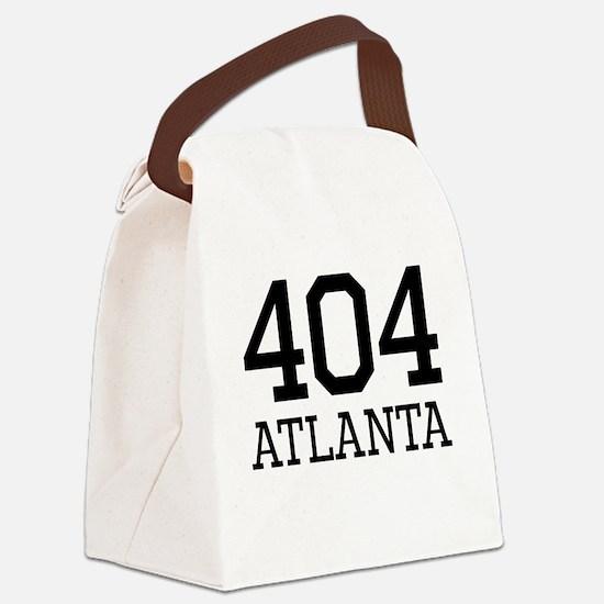 Atlanta Area Code 404 Canvas Lunch Bag