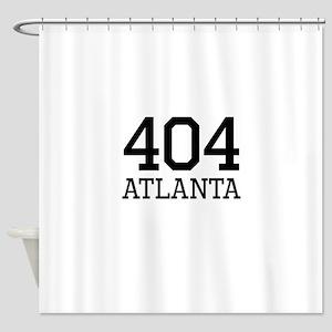 Atlanta Area Code 404 Shower Curtain