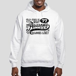 77th Birthday Hooded Sweatshirt