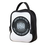 I Support The Tea Party Neoprene Lunch Bag