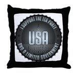 I Support The Tea Party Throw Pillow