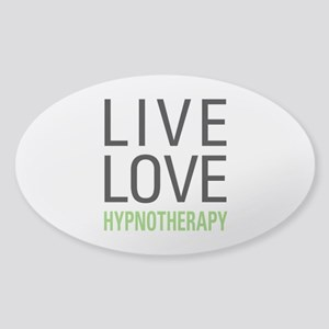 Live Love Hypnotherapy Sticker (Oval)