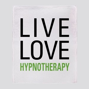 Live Love Hypnotherapy Throw Blanket