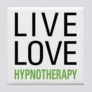 Live Love Hypnotherapy Tile Coaster