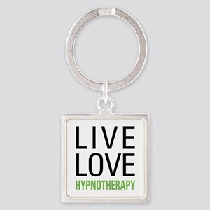 Live Love Hypnotherapy Square Keychain