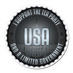 I Support The Tea Party Round Car Magnet