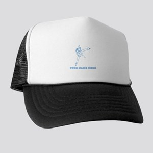 Custom Blue Figure Skater Trucker Hat
