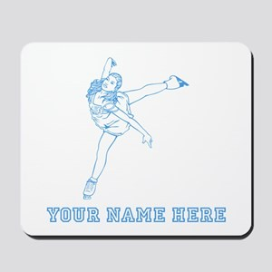 Custom Blue Figure Skater Mousepad