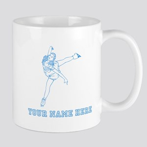 Custom Blue Figure Skater Mugs