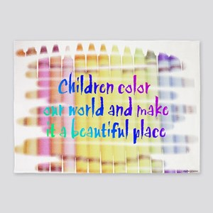 children color our world 5'x7'Area Rug