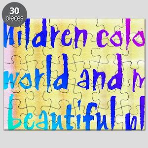 children color our world Puzzle