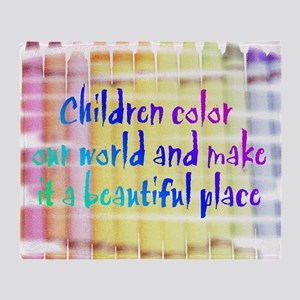 children color our world Throw Blanket