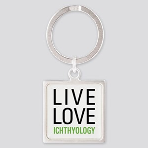 Live Love Ichthyology Square Keychain
