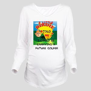 Long Sleeve Maternity T-Shirt Golfer