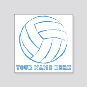 Custom Blue Volleyball Sticker