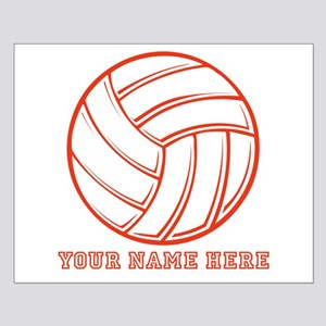 Custom Red Volleyball Posters