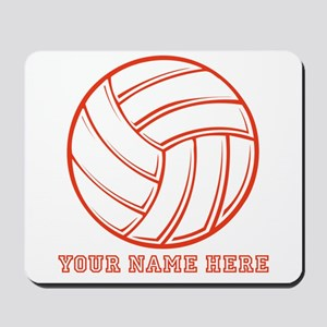 Custom Red Volleyball Mousepad