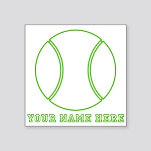 Custom Green Tennis Ball Sticker