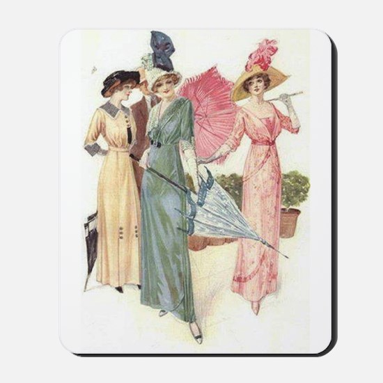 Triad Of Edwardian Ladies Mousepad