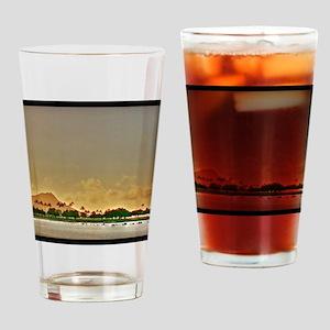 Diamond Head Sunset Drinking Glass
