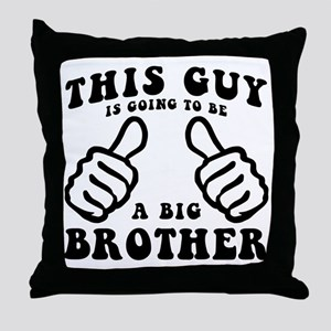Going To Be A Brother Throw Pillow