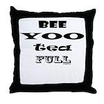 Beautiful, Bee Yoo Tea Full Throw Pillow