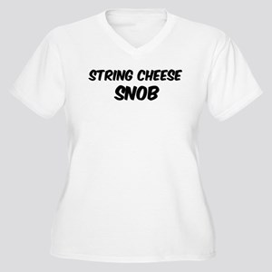 String Cheese Women's Plus Size V-Neck T-Shirt
