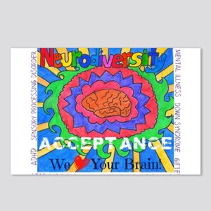 We Love Your Brain Postcards (Package of 8)