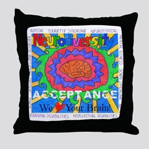 We Love Your Brain Throw Pillow