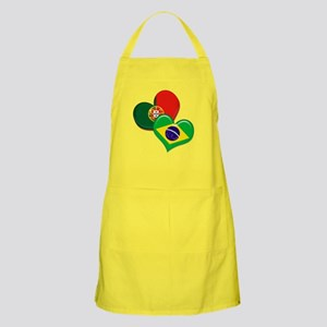 Portugal and Brazil hearts Apron