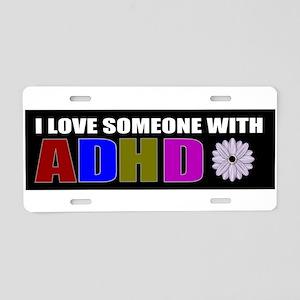 ADHD Aluminum License Plate