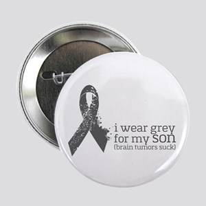"I Wear Grey For My Son 2.25"" Button (100 Pack"