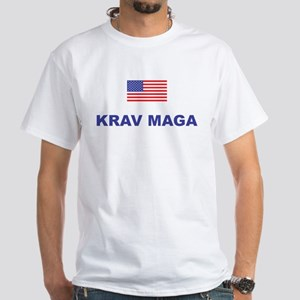 Krav Maga USA White T-Shirt