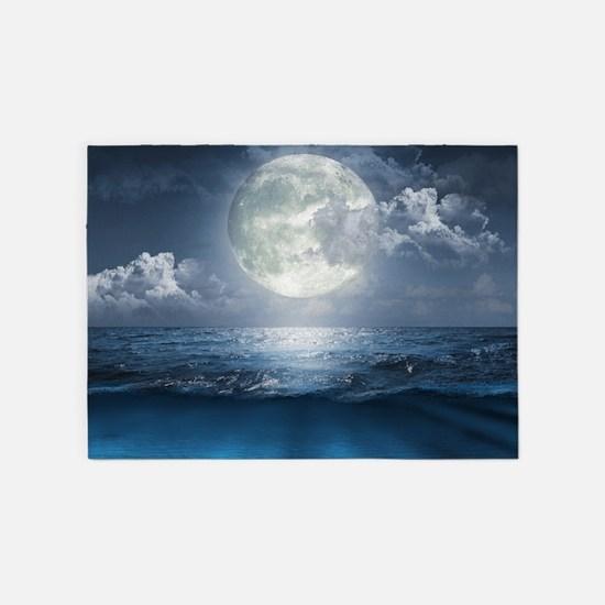 Night Ocean 5'x7'area Rug