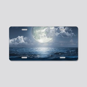 Night Ocean Aluminum License Plate