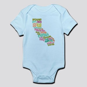 STATE NAMES California-MULTI Body Suit