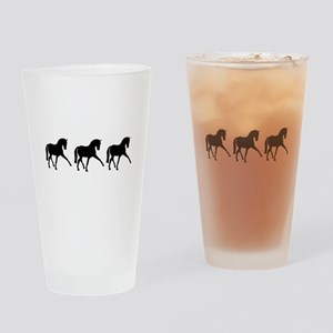 Dressage Horse Sidepass Trio Drinking Glass