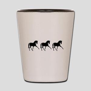 Dressage Horse Sidepass Trio Shot Glass