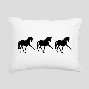 Dressage Horse Sidepass Trio Rectangular Canvas Pi