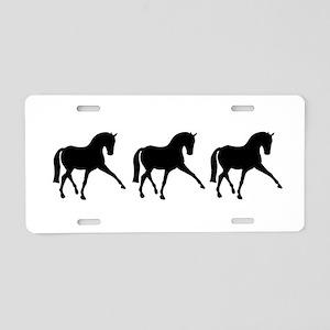 Dressage Horse Sidepass Trio Aluminum License Plat