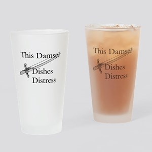This Damsel Dishes Distress Drinking Glass