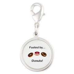 Fueled by Donuts Silver Round Charm