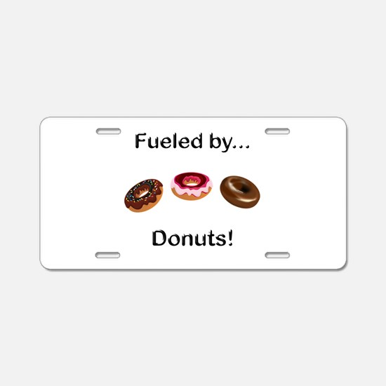 Fueled by Donuts Aluminum License Plate