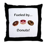 Fueled by Donuts Throw Pillow