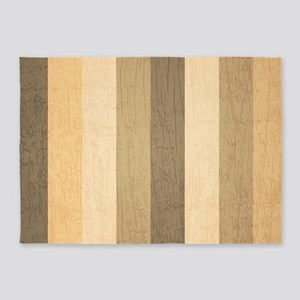 Wood Pattern 5'x7'area Rug