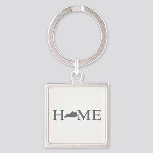 Kentucky Home Square Keychain