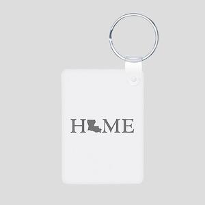Louisiana Home Aluminum Photo Keychain